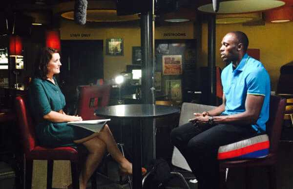 Katie Gornall und Usain Bolt - Foto: BBC World News