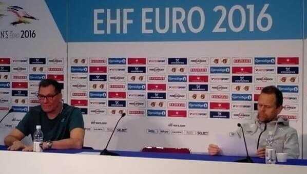 Handball EM 2016 - Trainer vor Halbfinale: Olivier Krumbholz (Frankreich) und Thorir Hergeirsson (Norwegen) - Foto: SPORT4FINAL