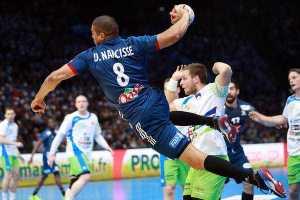 Daniel Narcisse (Frankreich) - Handball WM 2017 Halbfinale: Frankreich übermächtig gegen Slowenien ins Finale - Foto: France Handball