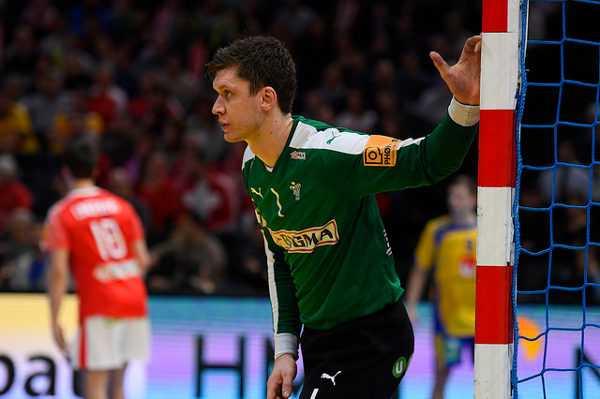 """Niklas Landin (Dänemark) - Handball WM 2017: Dänemark und """"Man of the Match"""" Niklas Landin bezwingen Schweden - Foto: France Handball"""
