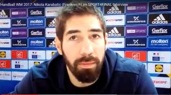 Handball WM 2017 Video: Nikola Karabatic (Frankreich) im SPORT4FINAL-Interview - Foto: SPORT4FINAL