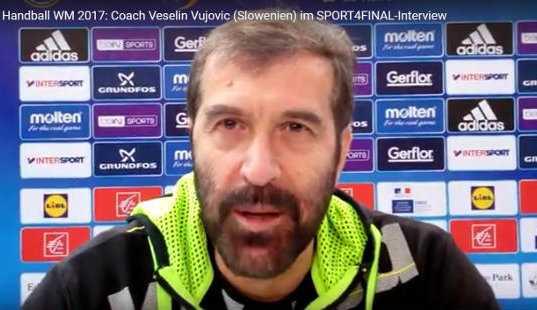 Handball WM 2017 Video: Veselin Vujovic (Slowenien) im SPORT4FINAL-Interview - Foto: SPORT4FINAL