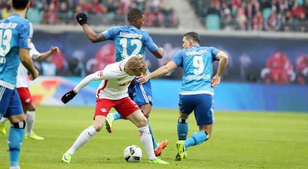 Deutsche Bundesliga, RasenBallsport Leipzig vs. Hamburger SV - Emil Forsberg (RB Leipzig) - Foto: GEPA pictures/Sven Sonntag