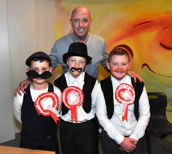 Children at Four Oaks Primary School in Anfield give Club Ambassador, Gary McAllister an unforgettable history lesson. Liverpool FC was founded 125 years ago. Photo: Liverpool FC