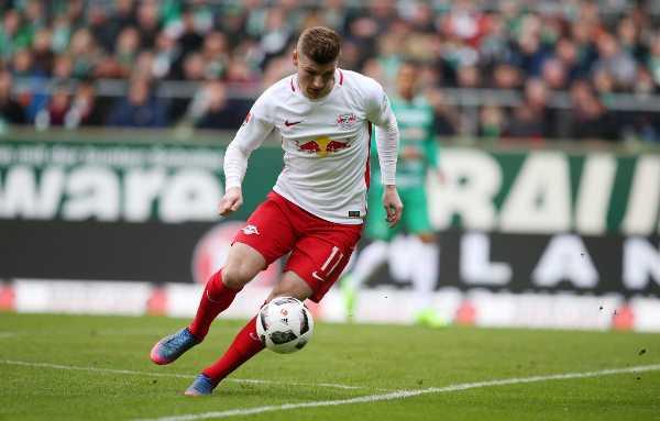 Deutsche Bundesliga, SV Werder Bremen vs. RasenBallsport Leipzig - Timo Werner (RB Leipzig) - Foto: GEPA pictures/Roger Petzsche