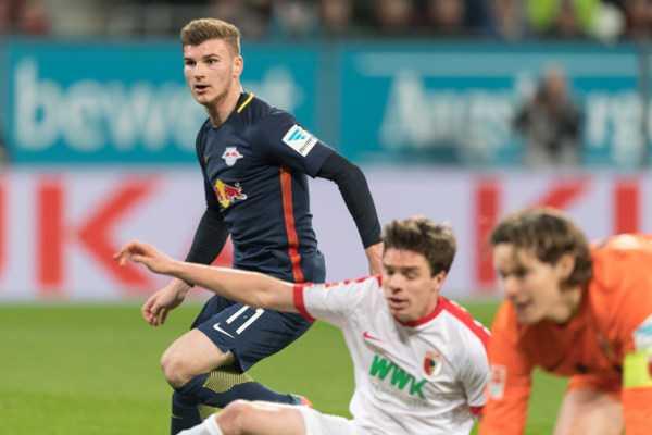 Deutsche Bundesliga, FC Augsburg vs. RasenBallsport Leipzig - Timo Werner (RB Leipzig) - Foto: GEPA pictures/Markus Fischer