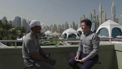 "Tiger Woods im Gespräch mit ""Living Golf""-Moderator Shane O'Donoghue, Quelle: CNN International"