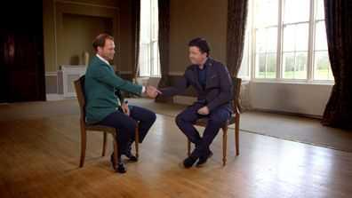 CNN Moderator Shane O'Donoghue (r.) im Gespräch mit Danny Willett (l.) - Quelle: CNN International Living Golf