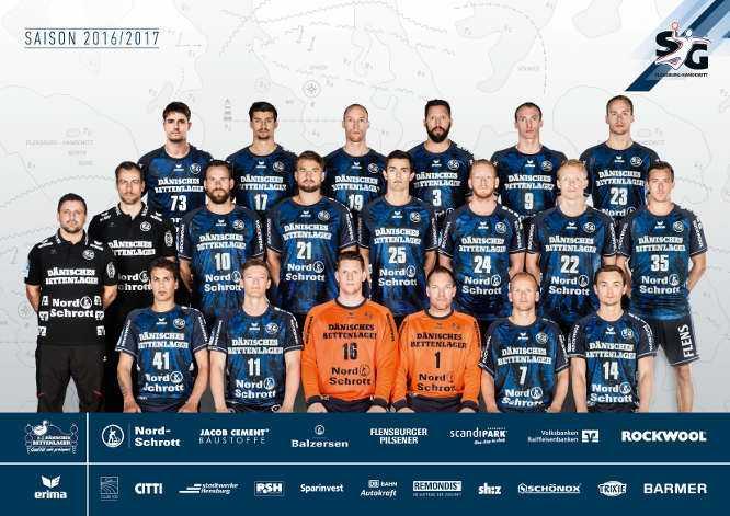 SG-Flensburg-Handewitt: Mannschaftsfoto 2016/2017 - Foto: SG Flensburg-Handewitt