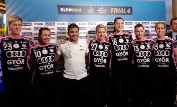 Sieger Györi Audi ETO KC beim Media Call - Handball EHF Final4 Budapest 2017 - Foto: SPORT4FINAL
