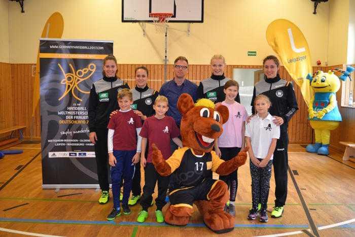 Handball WM 2017: Ladies in Lessingschule Leipzig - Sport-, Autogrammstunde, Training - Foto: Leipziger Organisationskomitee