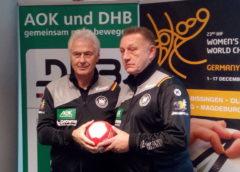 Wolfgang Sommerfeld und Michael Biegler - Handball WM 2017 Deutschland - DHB-Pressekonferenz am 29.11.2017 in Leipzig - Foto: SPORT4FINAL