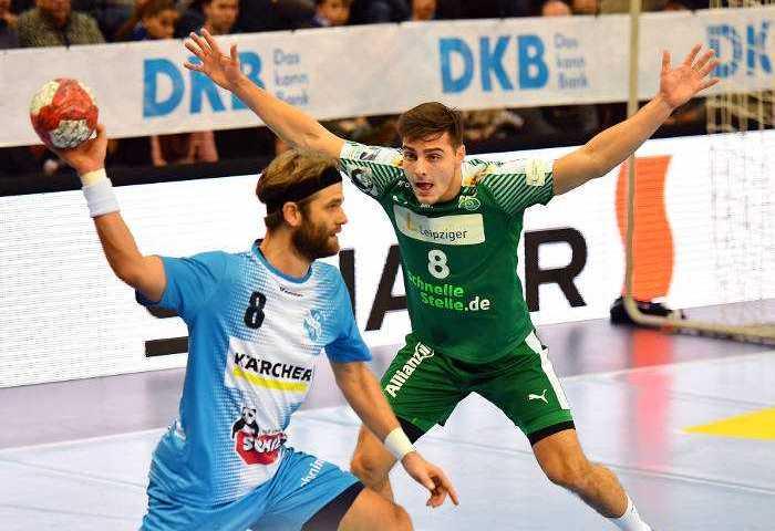 Lucas Krzikalla - TBV 1898 Stuttgart vs. SC DHfK Leipzig - Handball Bundesliga - Foto: Rainer Justen