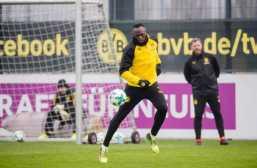 Borussia Dortmund. Usain Bolt besuchte den BVB und trainierte mit der Mannschaft. Copyright: Borussia Dortmund GmbH & Co. KGaA.