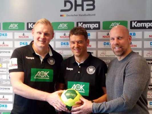 Patrick Wiencek, Christian Prokop, Axel Kromer - DHB-Pressekonferenz am 3. April 2018 in Leipzig - Deutschland - Foto: SPORT4FINAL