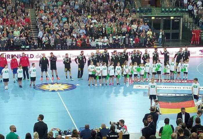 Deutschland vs. Serbien - Handball WM Test-Länderspiel am 4. April 2018 in der Arena Leipzig - Foto: SPORT4FINAL