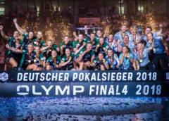 DHB Pokal Final4: VfL Oldenburg sensationeller Sieger über SG BBM Bietigheim. Stuttgart, Deutschland 20. Mai 2018 - Foto: HBF / Marco Wolf