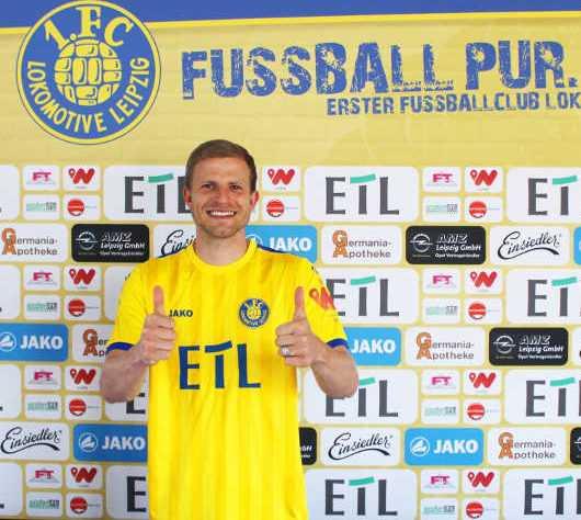 Nicky Adler - 1. FC Lok Leipzig - Fußball Regionalliga Nordost - FC Erzgebirge Aue - Foto: 1. FC Lok Leipzig