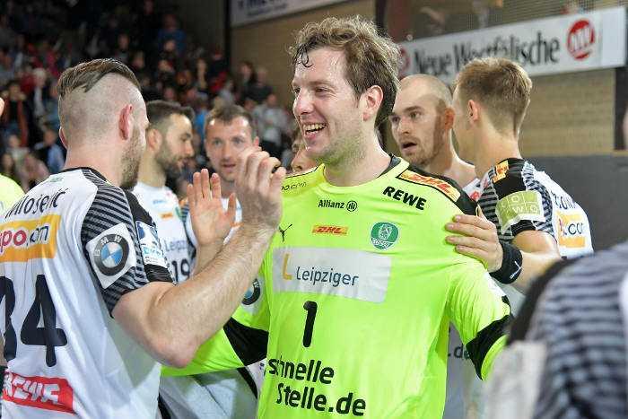 Jens Vortmann - Handball Bundesliga - TuS N-Lübbecke vs. SC DHfK Leipzig - Foto: Rainer Justen