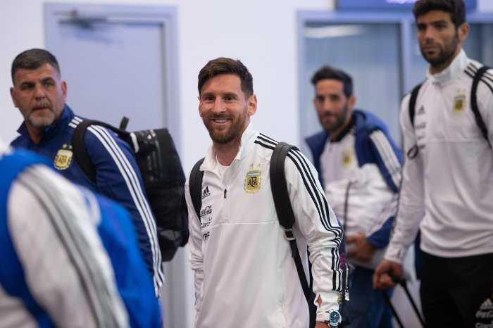 Fußball WM 2018 Russland: Lionel Messi - Argentinien - Ankunft in Moskau am 9. Juni 2018 – Foto: FIFA