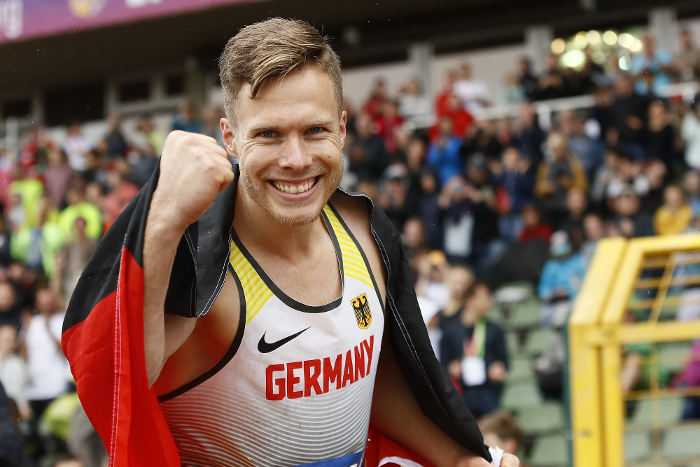 Berlin, Germany - August 25: Markus REHM (GER) while European Championships Para-Athletics Berlin 2018 at Berlin - Friedrich-Ludwig-Jahn-Sportpark, 2018.08.25 in Germany. Photo: Binh Truong/DBS