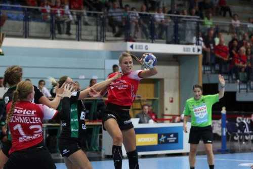 Alicia Stolle - Thüringer HC vs. VfL Oldenburg - Handball Supercup 2018 - Foto: Alex Mühlbach