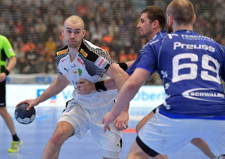 Maximilian Janke - SC DHfK Leipzig - Handball Bundesliga - Foto: Rainer Justen