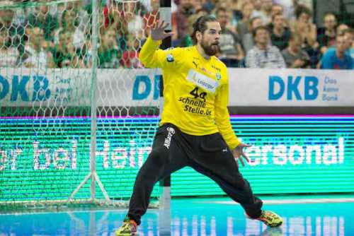 SC DHfK Leipzig vs. SG BBM Bietigheim - Milos Putera - Handball Bundesliga - Arena Leipzig am 04.09.2018 - Foto: Karsten Mann