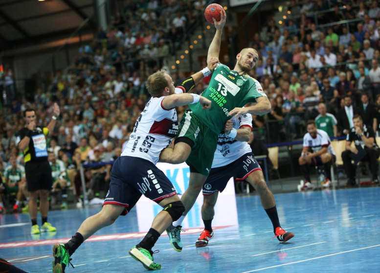 SC DHfK Leipzig vs. SG Flensburg-Handewitt - Handball Bundesliga - Maximilian Janke - Foto: Karsten Mann