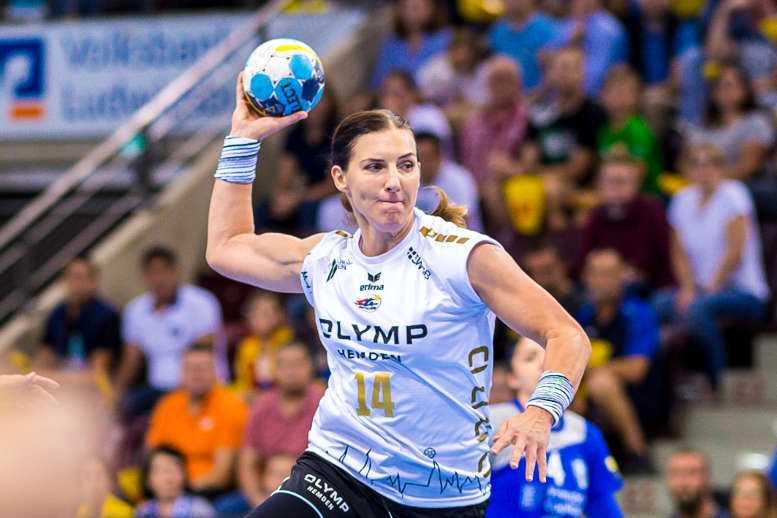 Karolina Kudlacz-Gloc - 14. Oktober 2018 - Handball EHF Champions League - SG BBM Bietigheim vs. CSM Bukarest - Foto: SG BBM Bietigheim