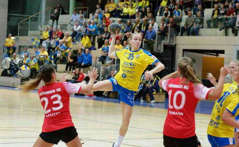 Jacqueline Hummel - HC Leipzig vs. Thüringer HC II - Salzahalle Bad Langensalza am 10.11.2018 - Foto: HC Leipzig