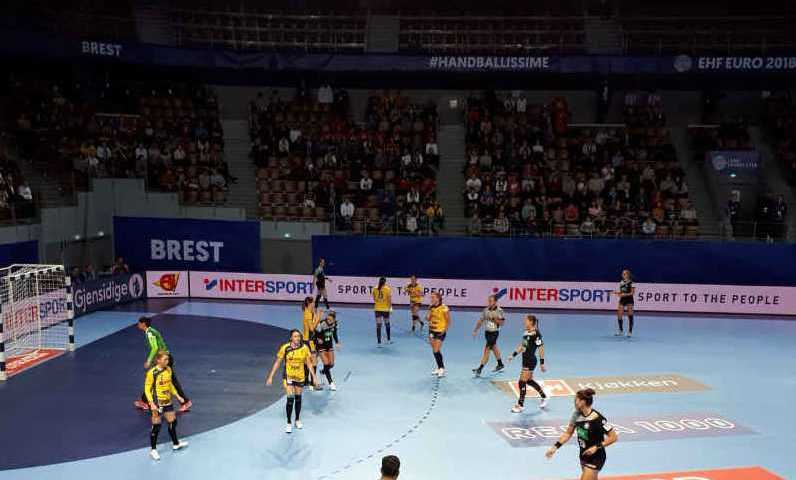 Handball EM 2018 - Deutschland vs. Rumänien - Brest am 03.12.2018 - Foto: DHB