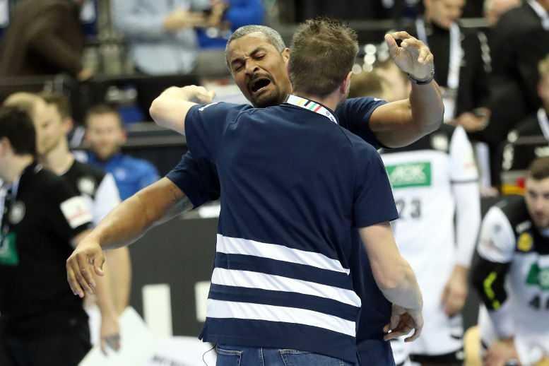 Handball WM 2019 Didier Dinart und Guillaume Gille - Frankreich vs. Deutschland - Copyright: FFHandball / S. Pillaud