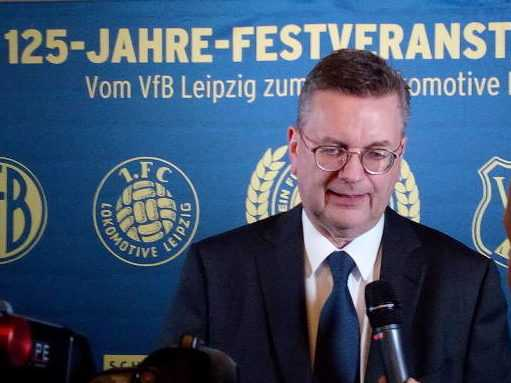 """Reinhard Grindel, DFB-Präsident, Ausstellungseröffnung """"125 Jahre VfB Leipzig - Von den Sportbrüdern bis zum 1. FC Lok"""" am 29. März 2019 im Stadtgeschichtlichen Museum Leipzig - Foto: SPORT4FINAL"""