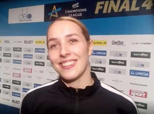 Handball DELO Frauen EHF Champions League Final4 Budapest 2019: Lois Abbingh (HC Rostov-Don) im SPORT4FINAL-Interview
