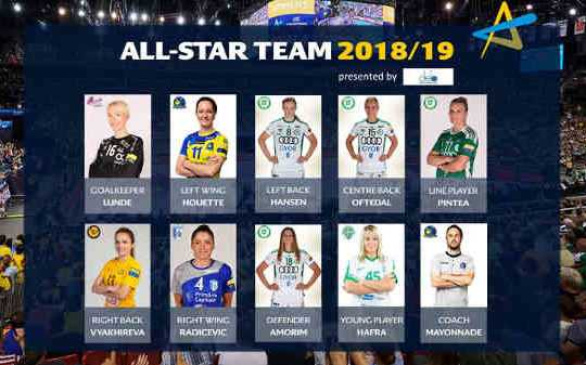Handball Women´s Champions League All-Star Team - Foto: EHF Media