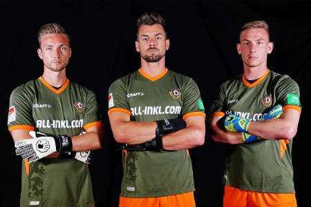 Dynamo Dresden Torwart Trikot Bundesliga Saison 2019/2020 - Foto: Dynamo Dresden