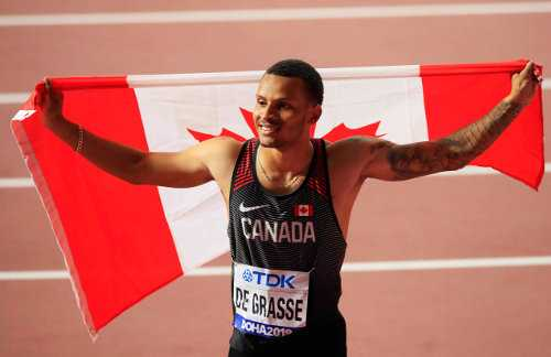 Leichtathletik WM 2019 - Andre de Grasse - Foto: © Getty Images for IAAF
