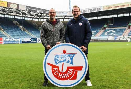 FC Hansa Rostock - Stefan Beinlich und Vorstand Sport beim FC Hansa Rostock Martin Pieckenhagen - Foto: FC Hansa Rostock