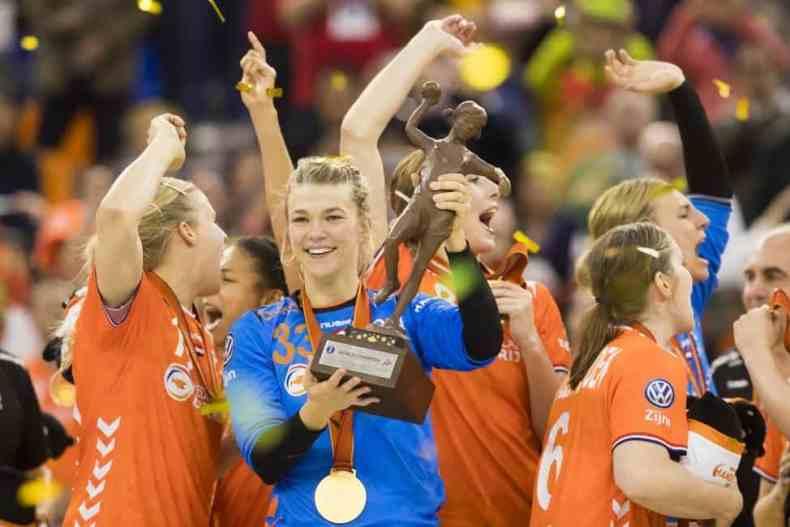 Handball WM 2019 - Niederlande WM Trophäe - Copyright: IHF