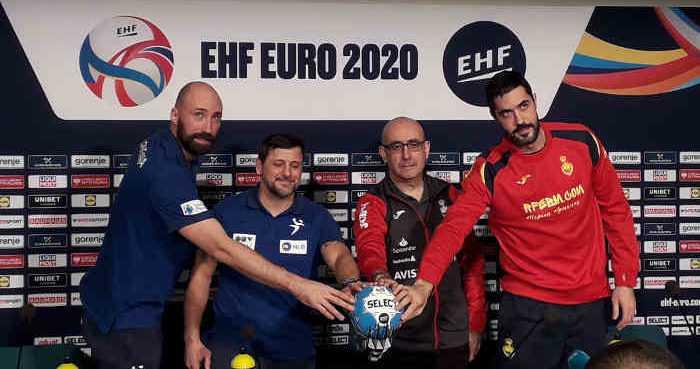 Handball EM 2020 - Semifinale Slowenien Spanien - Pressekonferenz - Copyright: SPORT4FINAL