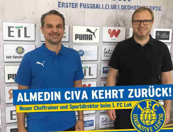 Almedin Civa und Martin Mieth - Foto: 1. FC Lok Leipzig