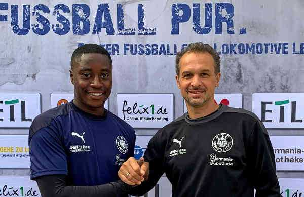 Gabriel Boakye und Almedin Civa - Foto: 1. FC Lok Leipzig