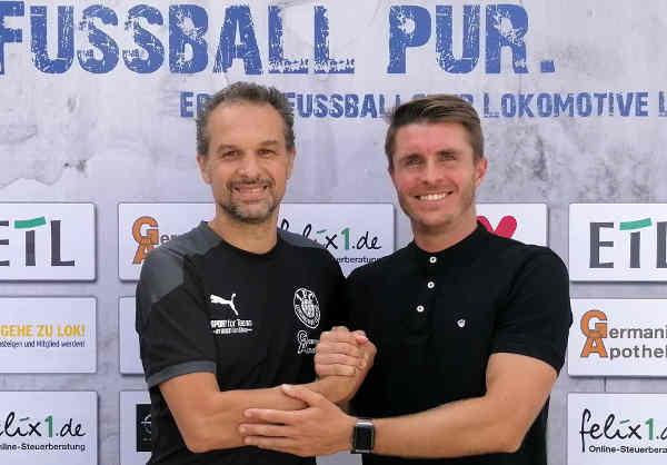 Almedin Civa und Maik Salewski - Foto: 1. FC Lok Leipzig