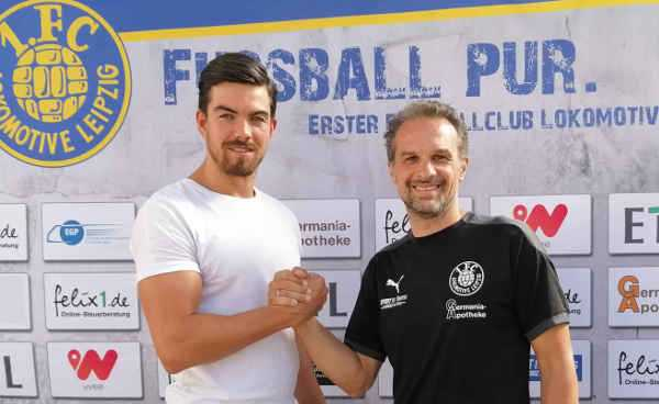 Mike Eglseder und Almedin Civa - Foto: 1. FC Lok Leipzig