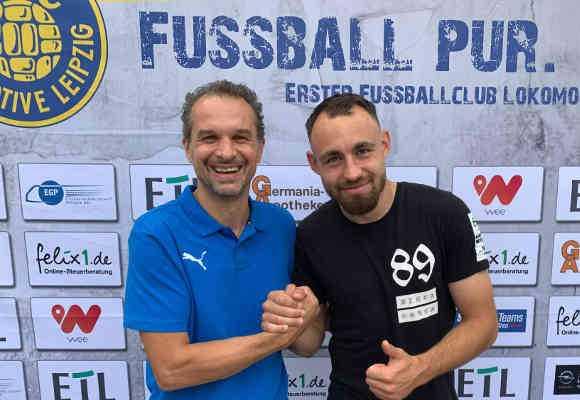Almedin Civa und Robert Berger - Foto: 1. FC Lok Leipzig