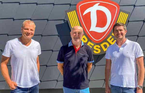 Jan Seifert, Hans-Jürgen Kreische, Ralf Becker (v.l.) - Foto: SG Dynamo Dresden