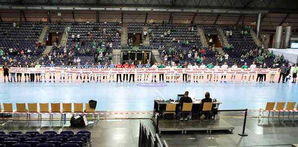 SC DHfK Leipzig vs. EHV Aue - Banner - Foto: Karsten Mann