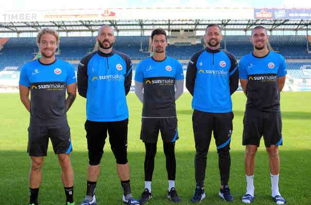 FC Hansa Rostock Mannschaftsrat Saison 2020-2021: Nils Butzen, Markus Kolke, Julian Riedel, John Verhoek, Damian Roßbach (v.l.n.r.) - Copyright: © F.C. Hansa Rostock