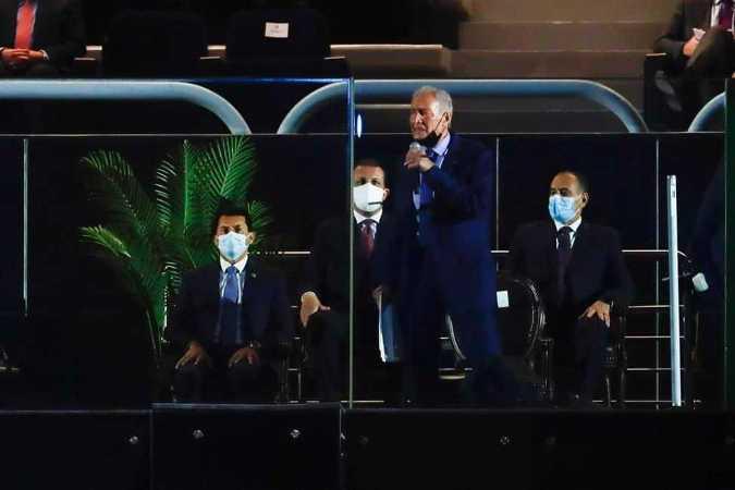 Handball WM 2021 Ägypten - Eröffnung IHF-Präsident Dr. Hassan Mustafa - Copyright: © IHF / Egypt 2021